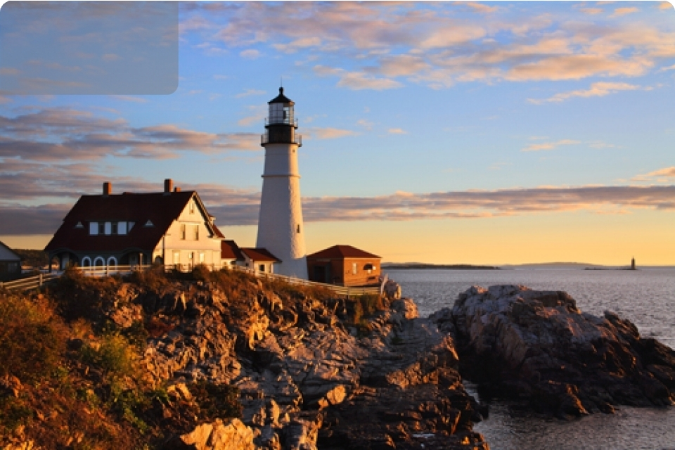 Boston e New England   Fogliage balene e streghe - America - Boston Maine Estata indiana